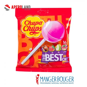 Sucettes assorties The Best Of CHUPA CHUPS 192g